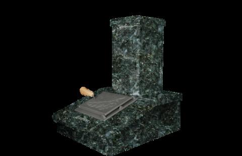 Облицовка на трубу Серпентинит, высота 540мм. ПБ-01/02/01-ЗК/02-ЗК Президент/ Русский пар