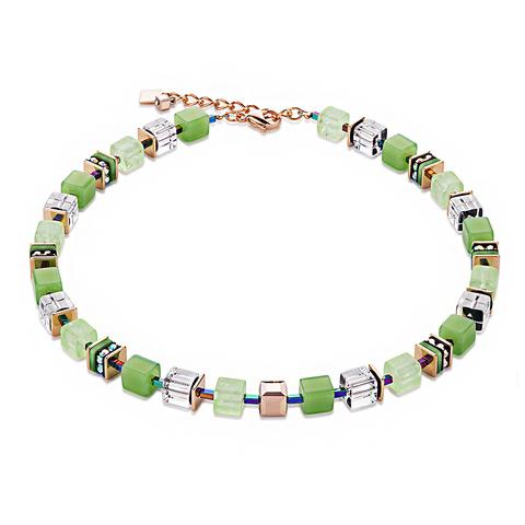 Колье Coeur de Lion 4797/10-0500 цвет зелёный, прозрачный, золотой