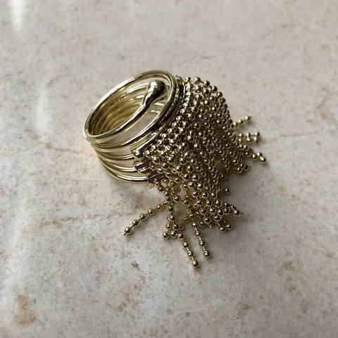 Кольцо Бахрома, позолота