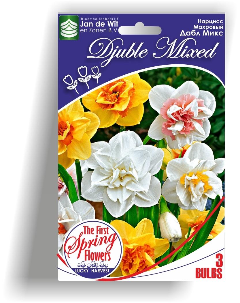 Луковицы Нарцисса махрового  Double Mixed (Дабл Микс) Jan de Wit en Zonen B.V. количество в упаковке 3 луковицы