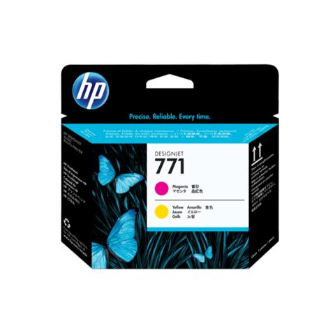 Печатающая головка HP CE018A (№771), пурпурная и жёлтая