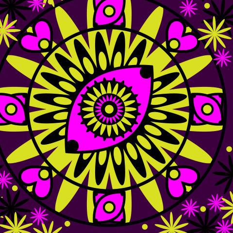 Абстрактный глаз в духе оккультизма