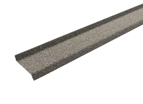 Цокольная планка Технониколь Hauberk серо-бежевый  17х85х20х1250 мм