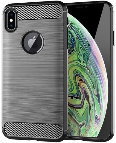 Чехол iPhone XS Max цвет Gray (серый), серия Carbon, Caseport