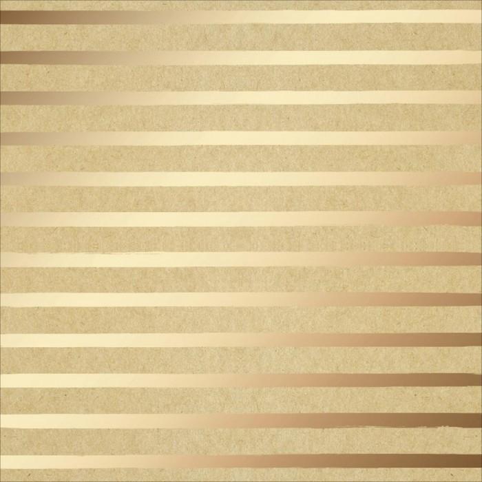 Кардсток 30*30 см с золотым тиснением