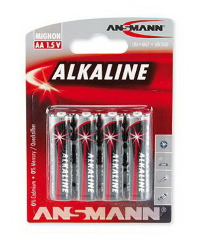 Батарейки Ansmann Alkaline Red LR6, AA (4/80) BL