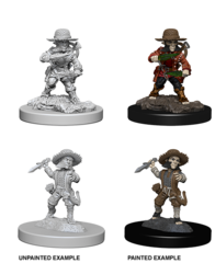 Pathfinder Battles Deep Cuts Unpainted Miniatures - Male Halfling Rogue