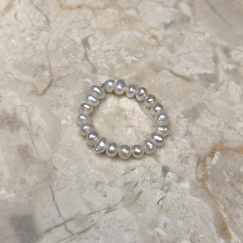 Кольцо из натурального жемчуга