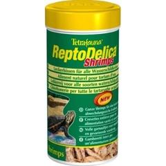 Лакомство для водных черепах, Tetra ReptoMin Delica Shrimps, креветки, 250 мл