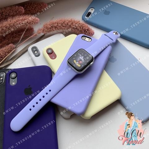 Ремешок Apple watch 38/40mm Sport Band /glycine/ гортензия