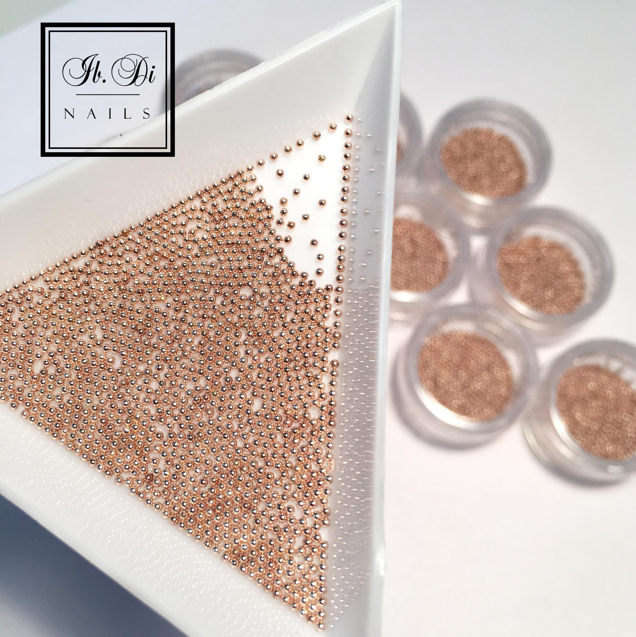 Бульонки металл розовое золото (0,8 мм) 5гр