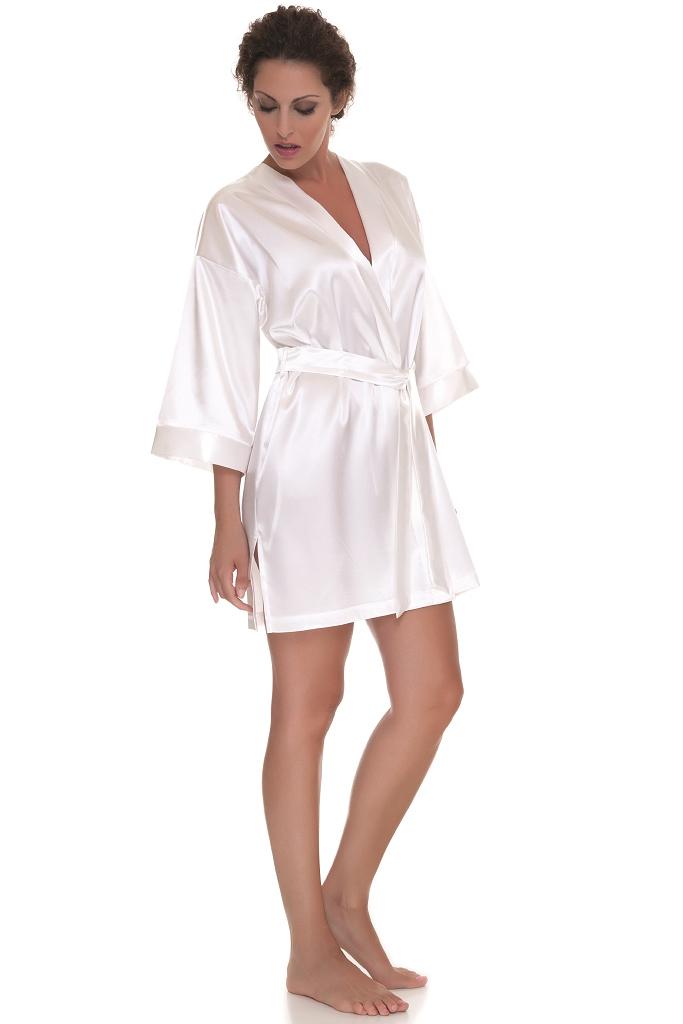 Белый короткий кимоно B&B
