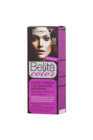 Белита-М Belita Color Стойкая краска с витаминами для волос тон №6.66 Бордо