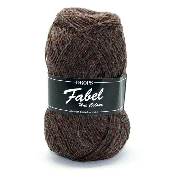 Пряжа Drops Fabel 300 коричневый