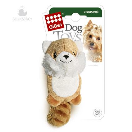 75014 Игрушка для собак gigwi Лисичка с пищалкой