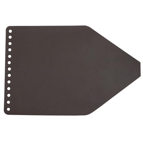 Клапан для рюкзачка кожаный темно-коричневый 2,5 мм