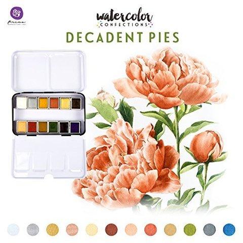 Акварельные краски Prima Marketing Watercolor Confections Watercolor Pans 12шт. -Decadent Pies