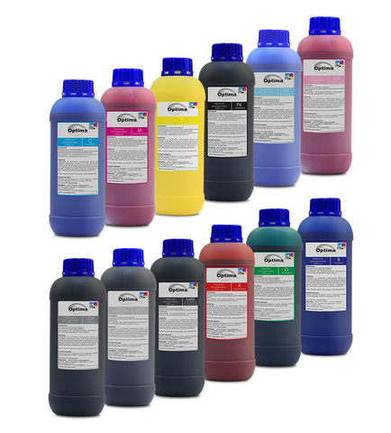 Комплект пигментных чернил Optima для плоттеров HP 12*1000 мл