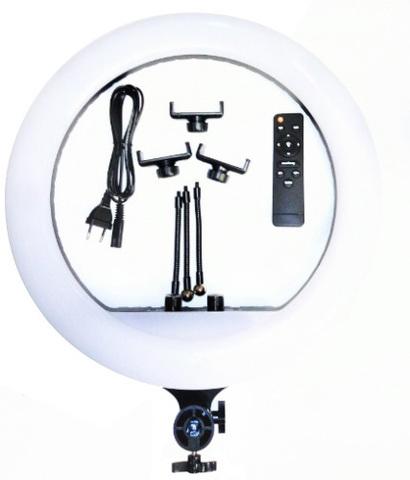 Большая кольцевая светодиодная led лампа Ring Fill Light zb r18 Диаметр-45 см
