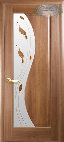 Дверь Эскада ДО (золотая ольха, остекленная ПВХ), фабрика Новый Стиль