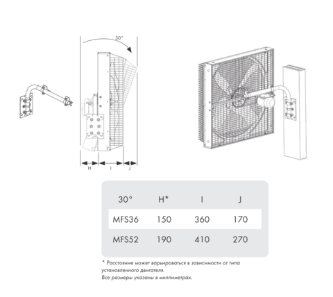 MFS52 | Размеры