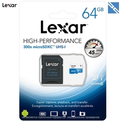 Карта памяти Lexar MicroSDXC 64GB 633x 95MB/s 4K High-Performance