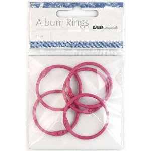 Кольца разъемные HOT PINK ALBUM RINGS