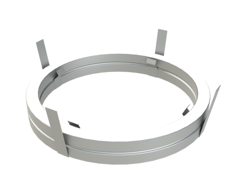 Потолочный проходной узел D200 ОС 0.5 мм (Баня-Бочка)