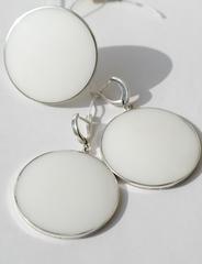 Плато(кольцо + серьги из серебра)