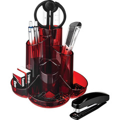 Набор настольный Attache Selection S-357 10 предметов красный