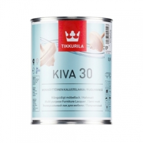 Tikkurila Kiva / Тиккурила Кива лак для мебели полуматовый