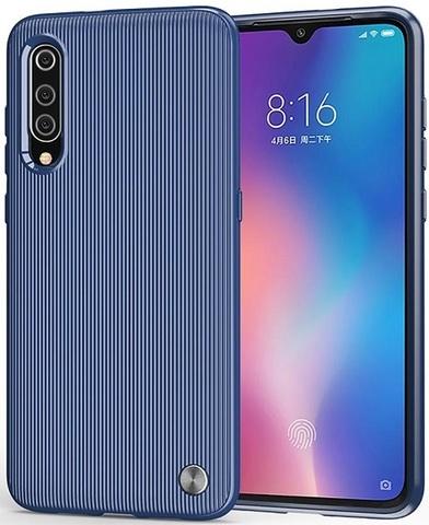 Чехол Xiaomi Mi 9 (9 Pro 5G) цвет Blue (синий), серия Bevel, Caseport