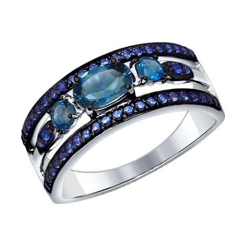 Серебряное кольцо с Лондон топазом