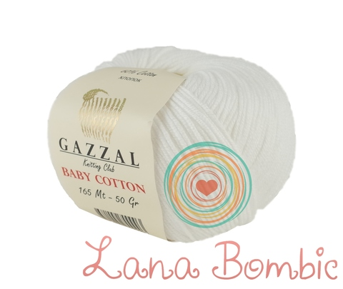 Пряжа Gazzal Baby Cotton 3432 белый