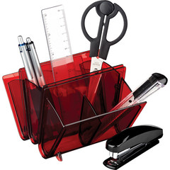 Набор настольный Attache Selection S-903 7 предметов красный