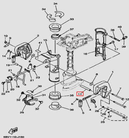 Втулка для лодочного мотора F5 Sea-PRO(16-11)