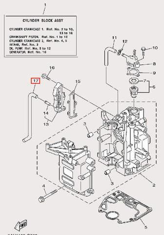Шланг выпуска для лодочного мотора F9,9 Sea-PRO (2-17)