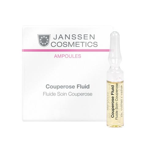 Сосудоукрепляющий концентрат для кожи с куперозом (в ампулах) Couperose Fluid, Sensitive skin, Janssen Cosmetics, 7 х 2 мл