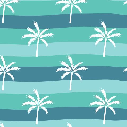 Пальмы на полосатом фоне