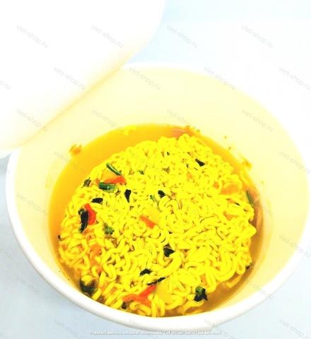 Корейская пшеничная лапша с сырным соусом (спагетти) Оттоги, 120 гр.