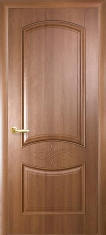 Дверь Донна ДГ (золотая ольха, глухая ПВХ), фабрика Новый Стиль