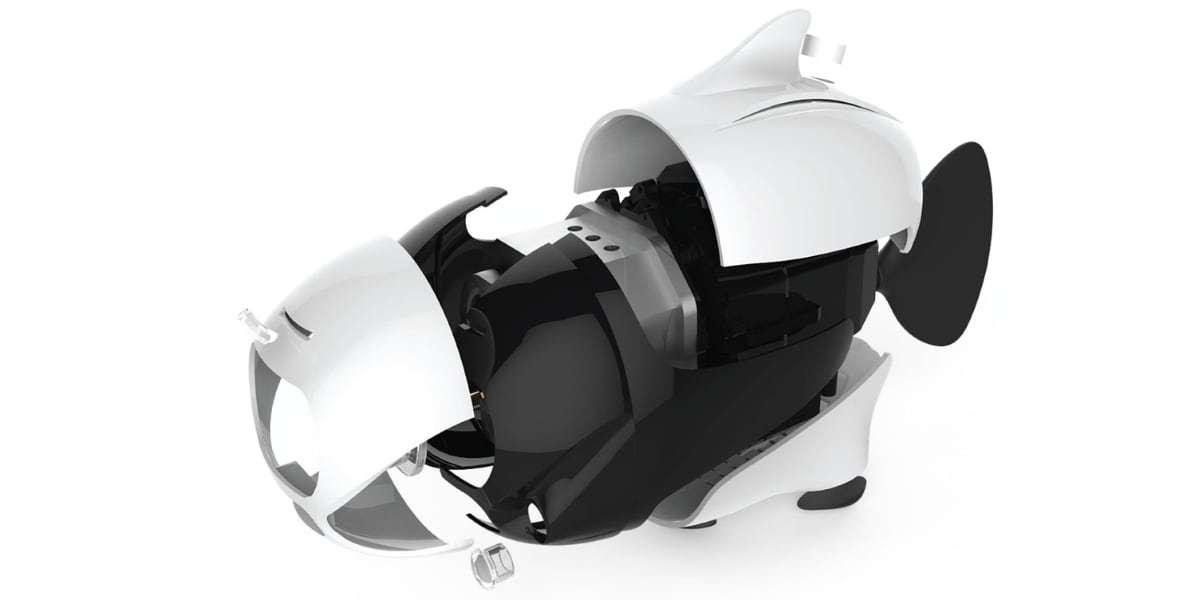 Подводный дрон RoboSea BIKI V1.0 белый разобран