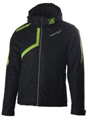 Утеплённая прогулочная лыжная куртка Nordski Premium Black/Lime мужская