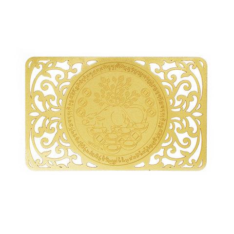 Золотая карточка богатства с мангустом
