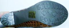Ботильоны на каблуке коричневые