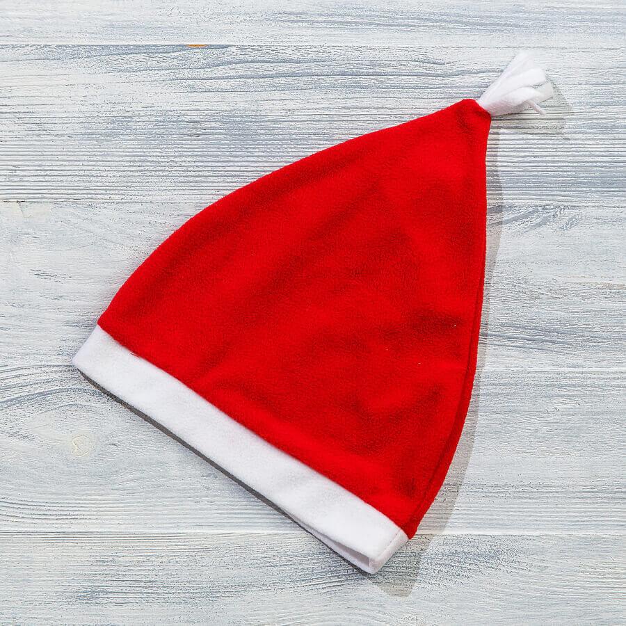 Новогодний колпак из флиса для новорожденных