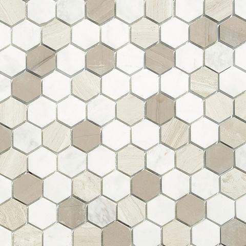 Мозаика Pietra Mix 3 MAT hex 18x30x6 285х305