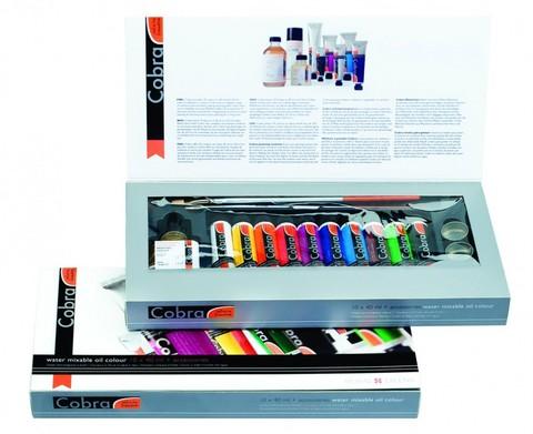 Набор водорастворимых масляных красок Cobra Artist Подарочный 10 цветов в тубах по 40 мл + аксессуары