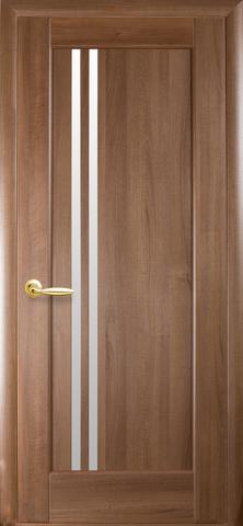 Дверь Делла (золотая ольха, остекленная ПВХ), фабрика Новый Стиль