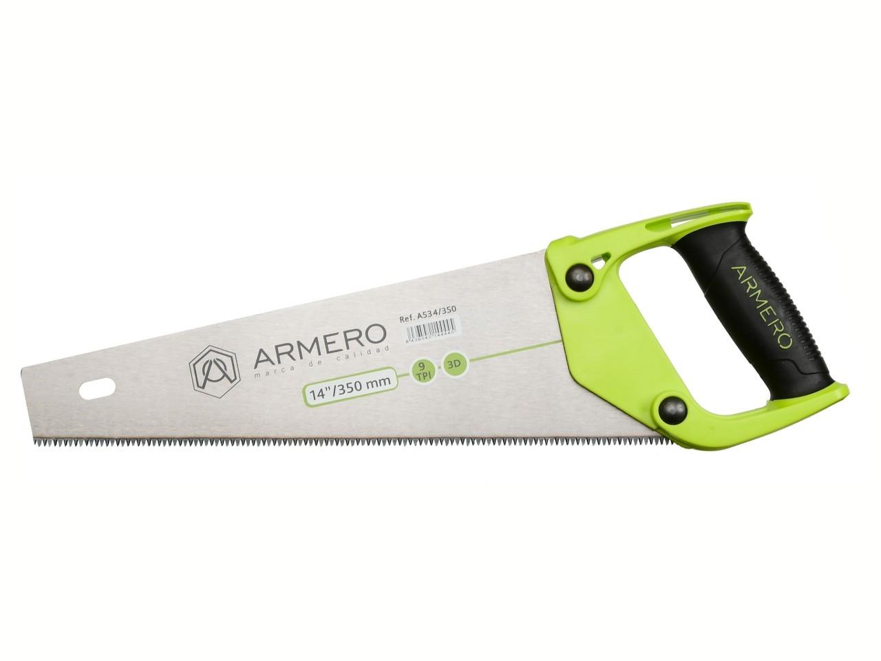 Ножовка по дереву A534/350, 350 мм, 3d, средний зуб